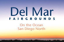 "Del Mar Fairgrounds ""Click on the Events Calendar"""